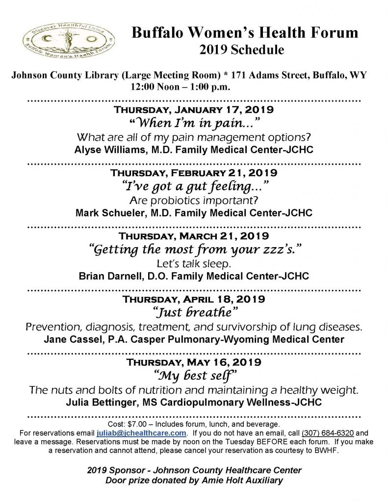 Buffalo women's Health Forums