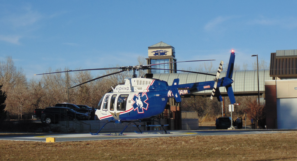 helicopter at JCHC